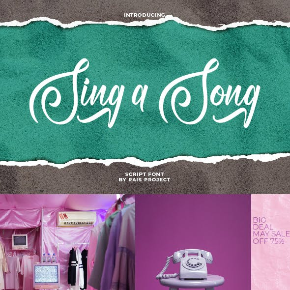 Sing A Song Handwriting Font