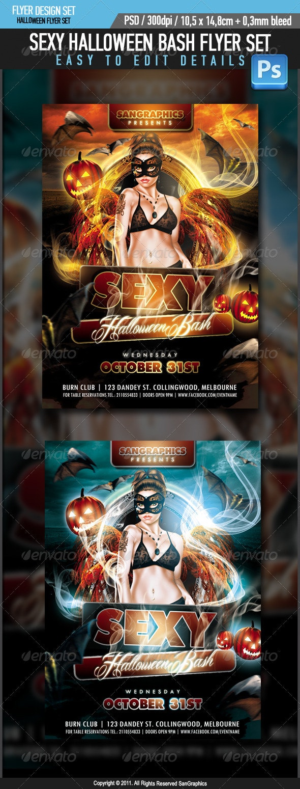 Sexy Halloween Bash Flyer - Clubs & Parties Events
