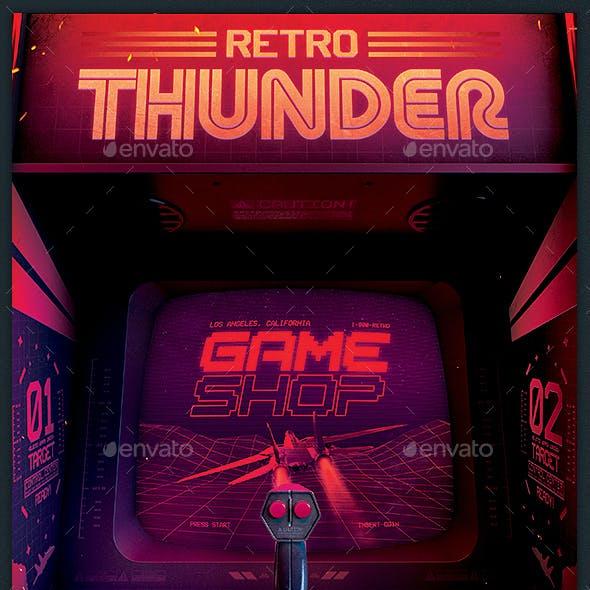 Retro Gaming 80s Synthwave Arcade Flyer