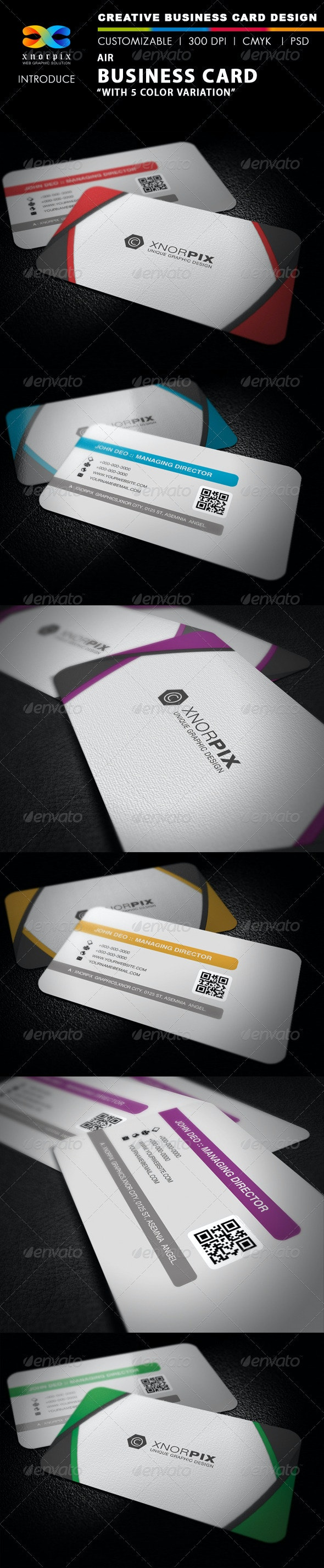 Air Business Card - Corporate Business Cards