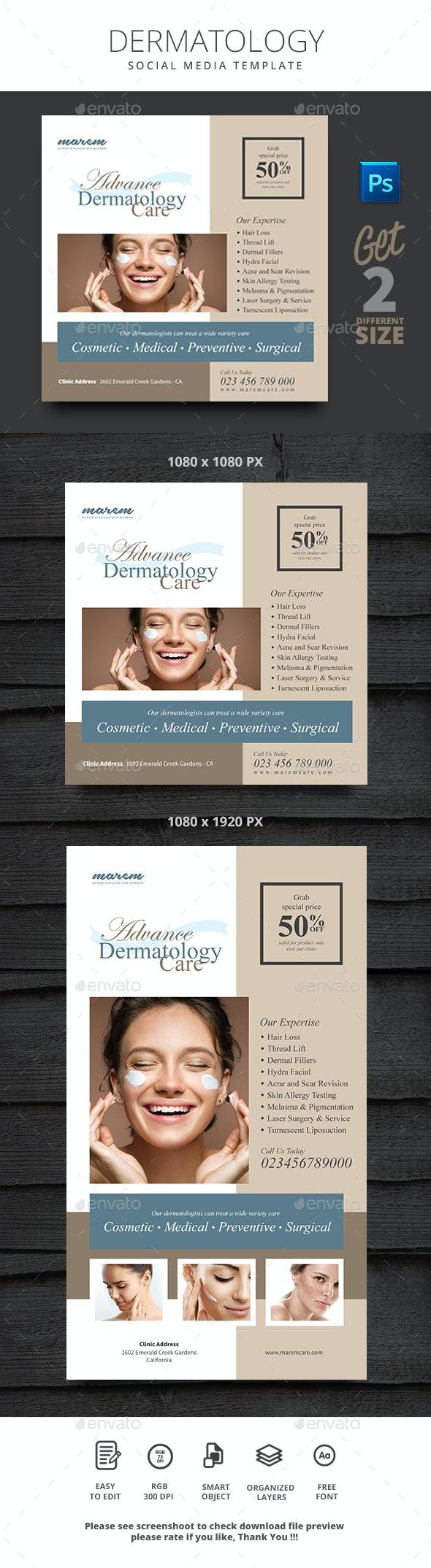 Dermatology Social Media - Social Media Web Elements