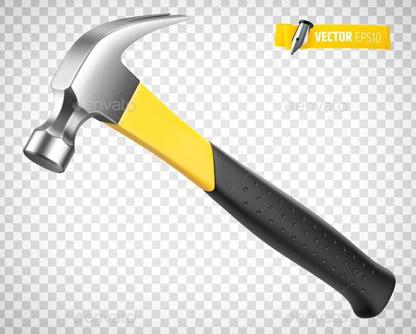Vector Realistic Hammer - Objects Vectors