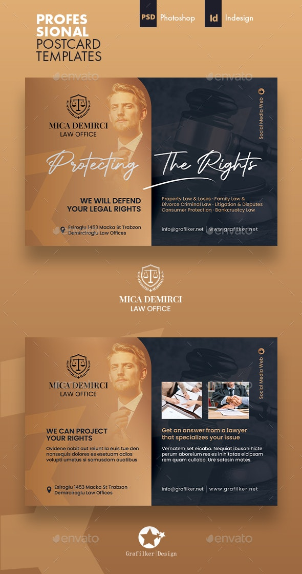 Lawyer Postcard Templates - Cards & Invites Print Templates