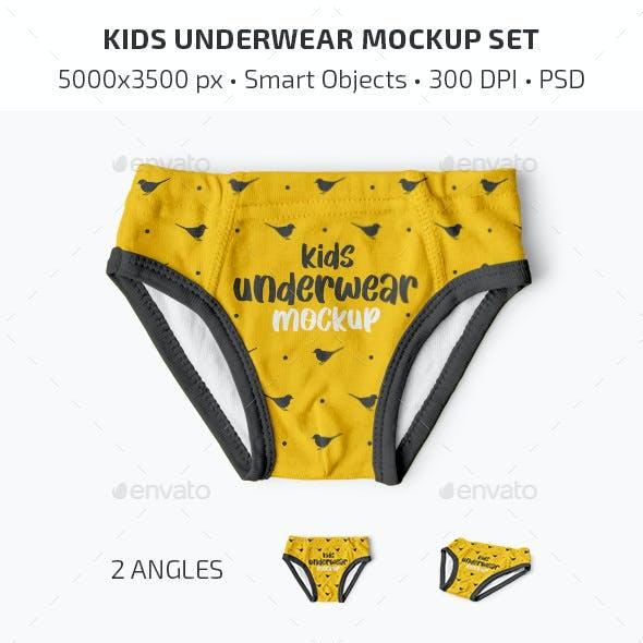 Kids Underwear Mockup Set