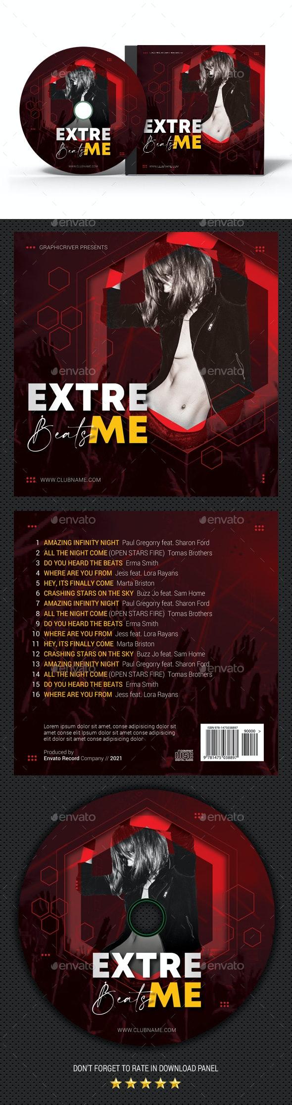 Extreme Music CD Cover - CD & DVD Artwork Print Templates