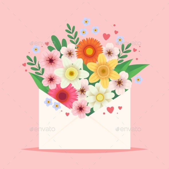 Flowers in an Envelope - Man-made Objects Objects