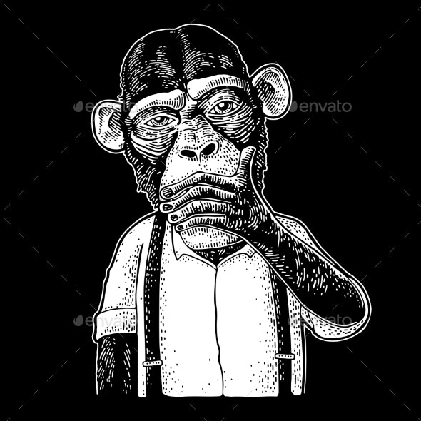 Three Wise Monkeys - Animals Characters