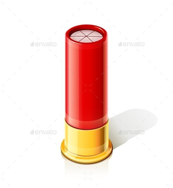 ShotGun for Hunting Gun. Vector Illustration. - Vectors