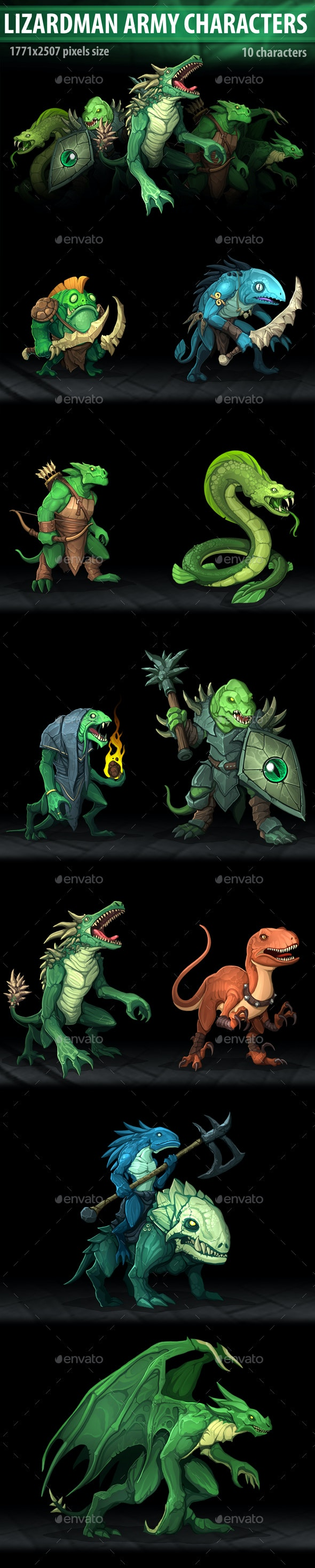 Lizardman Army Characters