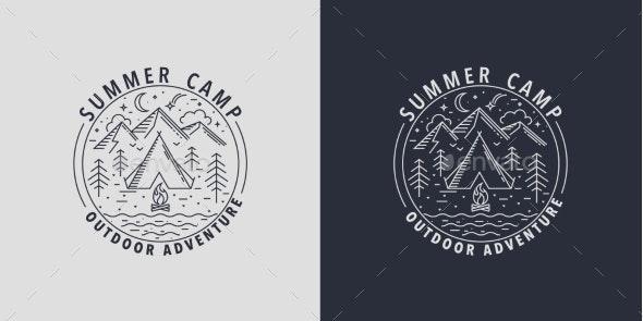 Wildlife Summer Camp Badges - Miscellaneous Vectors