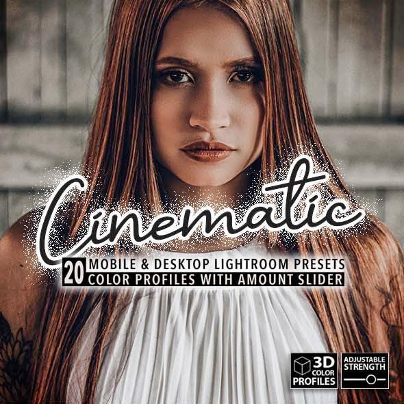 20 Cinematic Lightroom Presets, 3D Profiles (Desktop & Mobile)