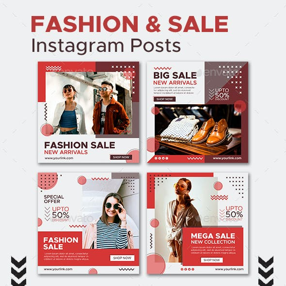 Fashion and Sale Instagram Posts