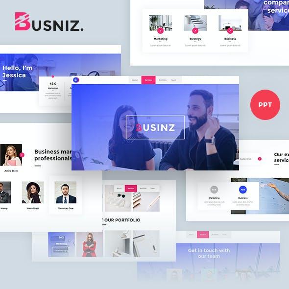 Busniz - Marketing Business Powepoint