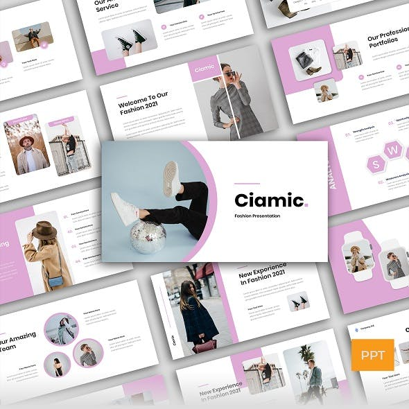 Ciamic - Fashion Business Presentation PowerPoint Template