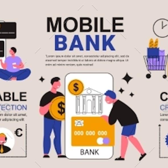Mobile Bank App Infographics