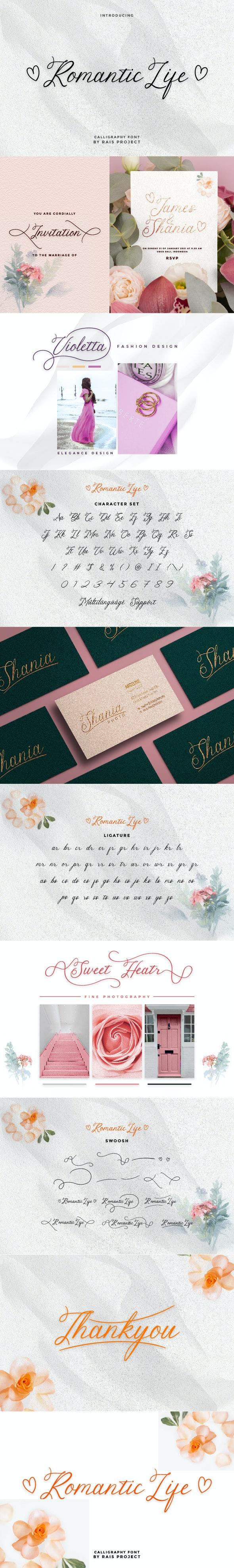 Romantic Life Handwriting Font - Hand-writing Script