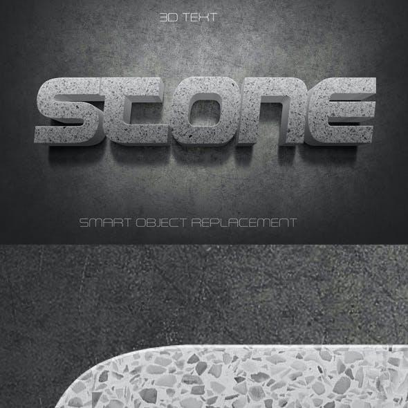 3D Text Stone