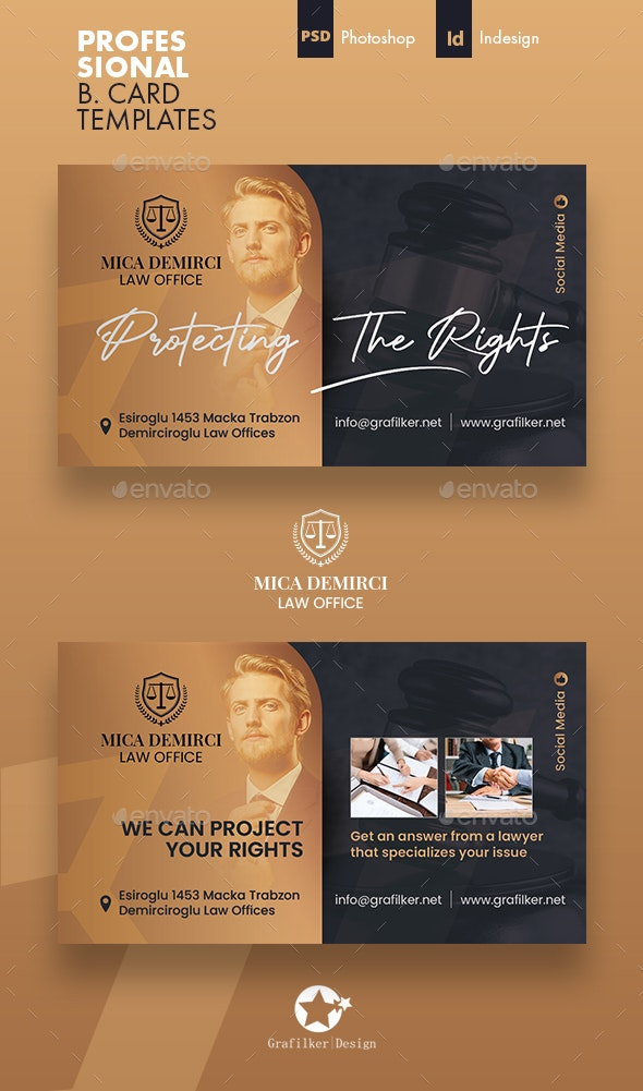 Lawyer Business Card Templates - Corporate Business Cards