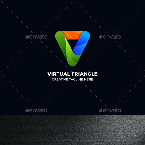 Gradient Triangle Geometric Logo Template