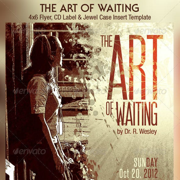 Art of Waiting Retro Flyer CD Template