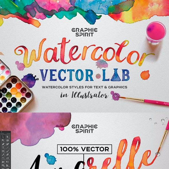 Watercolor Vector Styles Illustrator