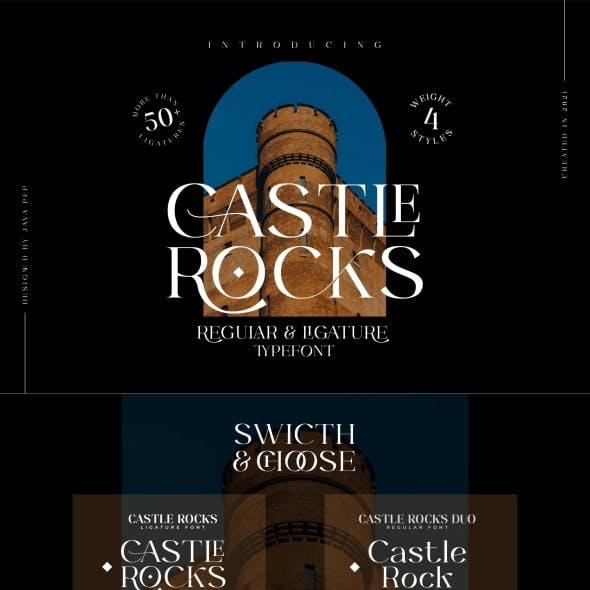 CASTLE ROCKS DUO - Ligature Font