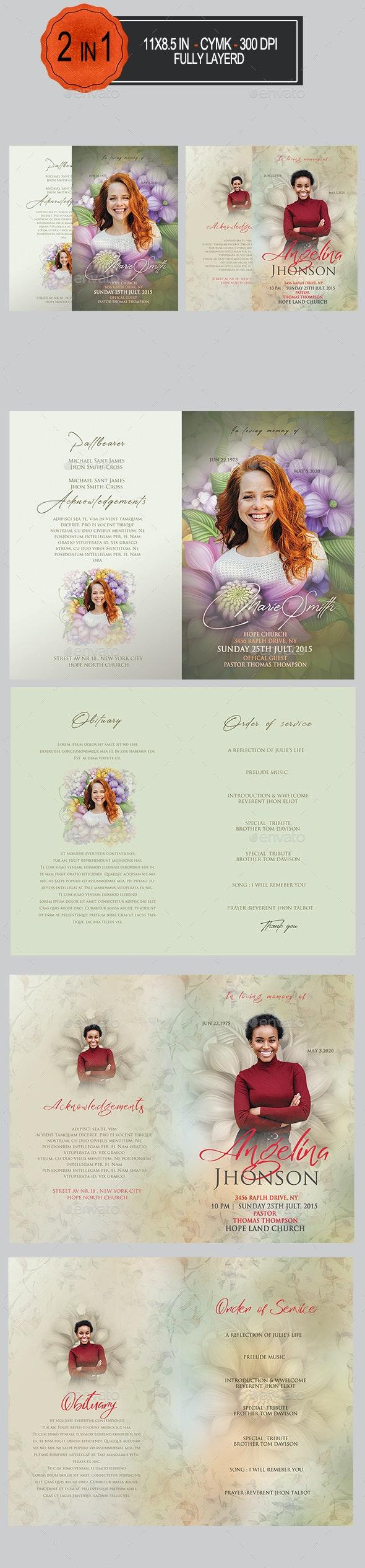 Funeral Program Bundle - Informational Brochures