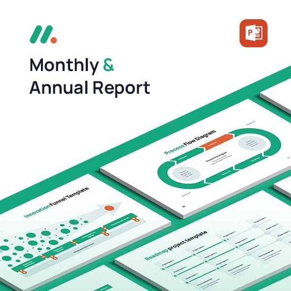 Monthly and Annual Report Powerpoint template