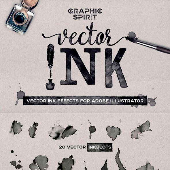 Vector Ink Effects For Adobe Illustrator