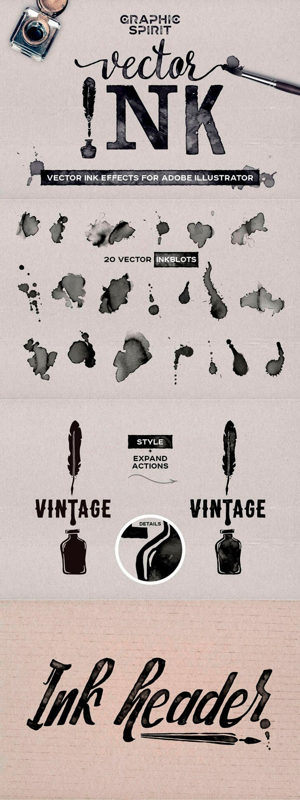 Vector Ink Effects For Adobe Illustrator - Illustrator Add-ons