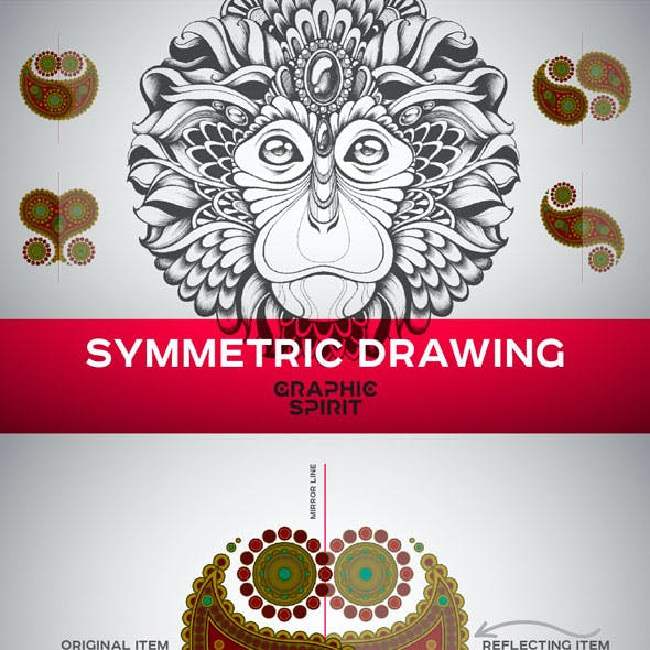 Symmetric Drawing Templates For Adobe Illustrator