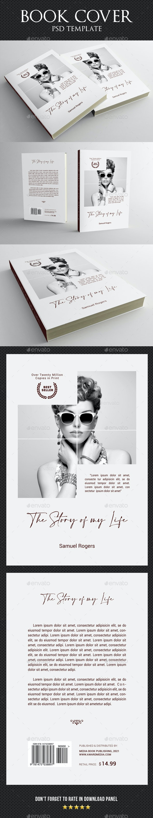 Book Cover Template 89 - Miscellaneous Print Templates