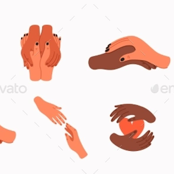Helping Hand and Empathy Icons