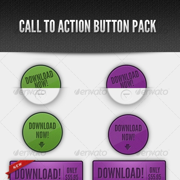 Call to Action Web Button Pack - Buttons Web Elements