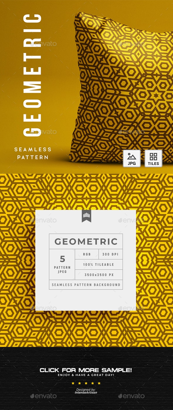 Geometric Abstract Seamless Pattern - Background - Patterns Backgrounds
