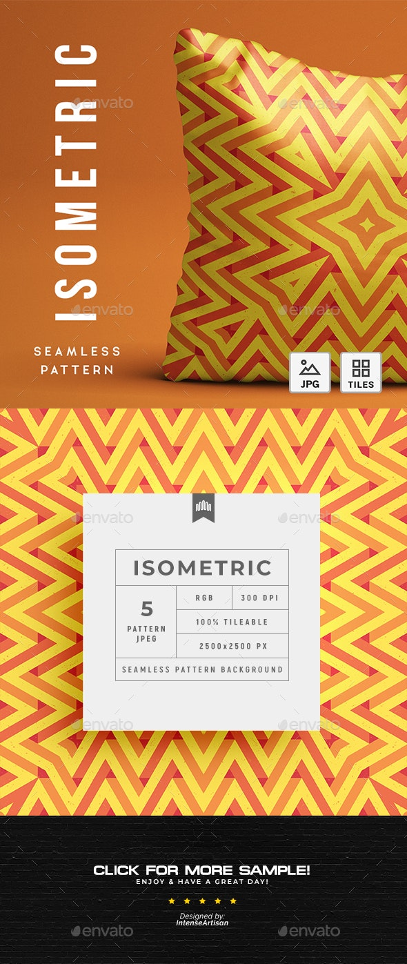 Isometric Abstract Seamless Pattern - Background - Patterns Backgrounds