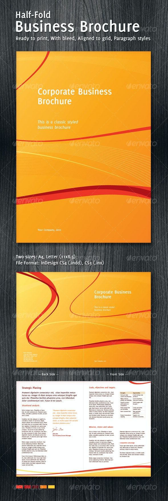 Half-Hold Corporate Business Brochure - Corporate Brochures