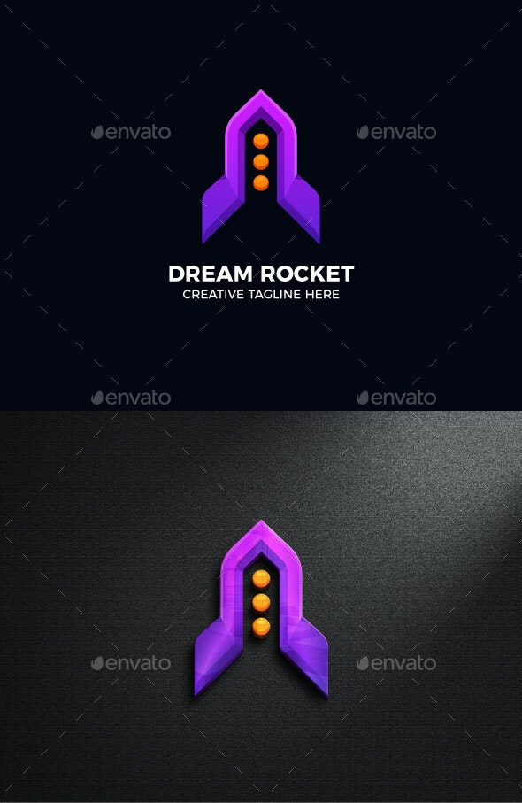 Rocket Spaceship Gradient Logo Template - Objects Logo Templates