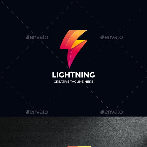 Lightning Electricity Power Logo Template