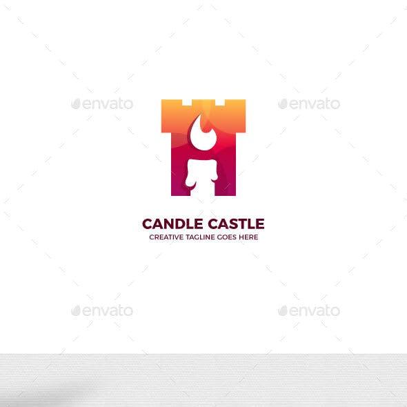 Candle Castle Gradient Logo Template