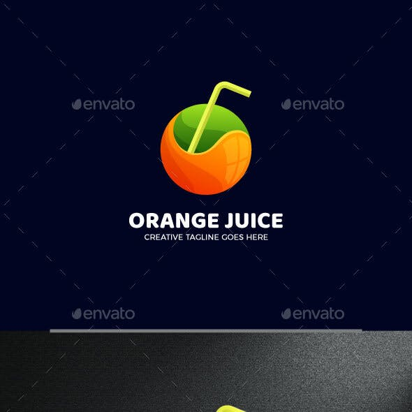 Fresh Juice Gradient Logo Template