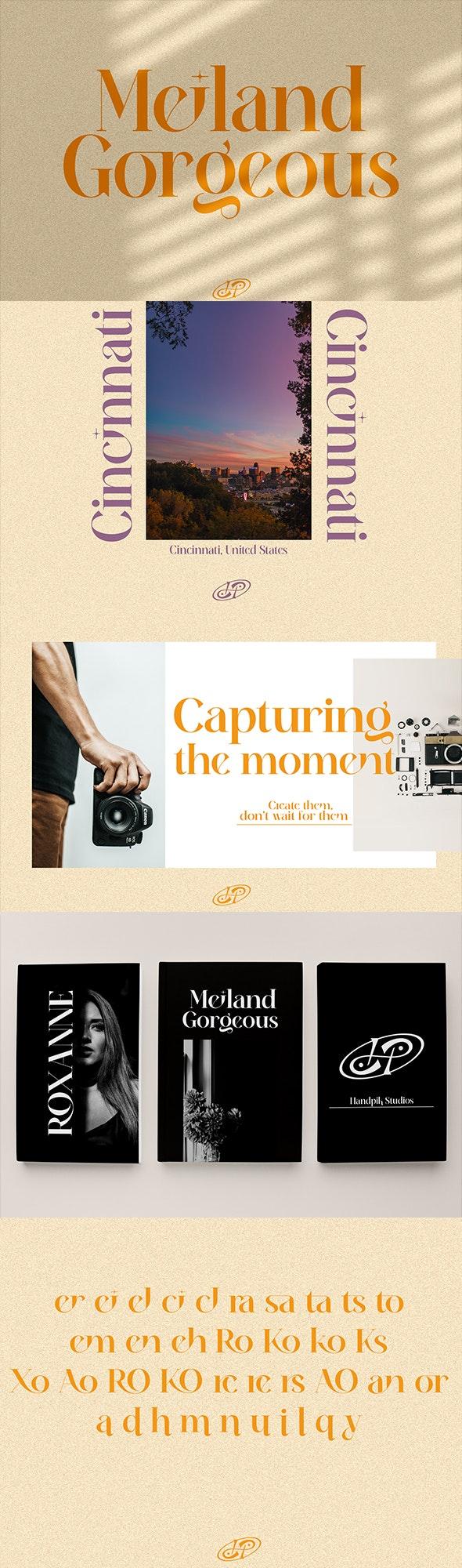 Meiland Gorgeous - Serif Fonts