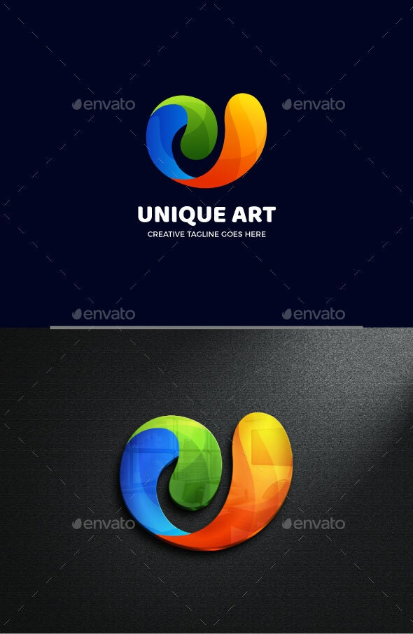 Abstract Letter U Gradient Logo Template - Abstract Logo Templates