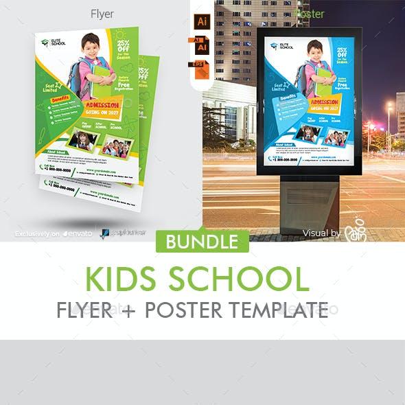 School Admission Flyer + Poster Bundle