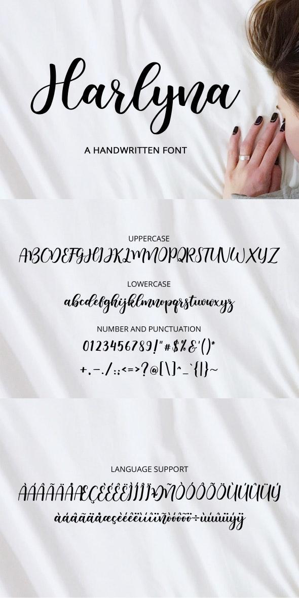 Harlyna - Hand-writing Script