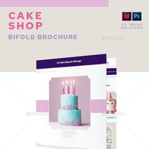 Cake Shop Bifold Brochure
