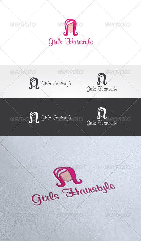 Girls Hairstyle Logo Template - Humans Logo Templates