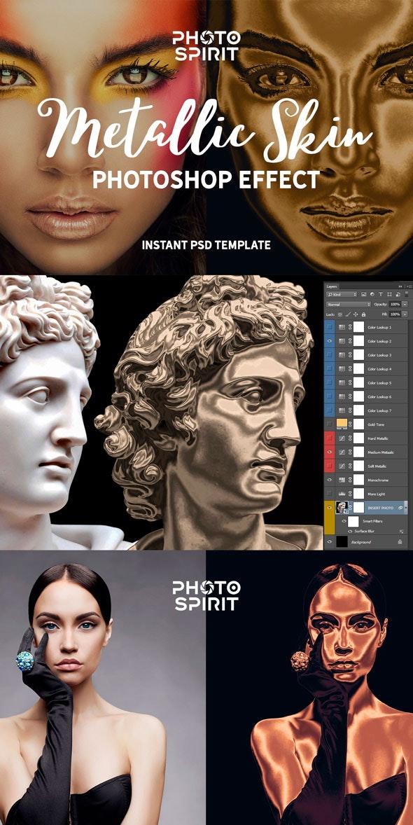 Metallic Skin Photoshop Effect - Photo Effects Actions