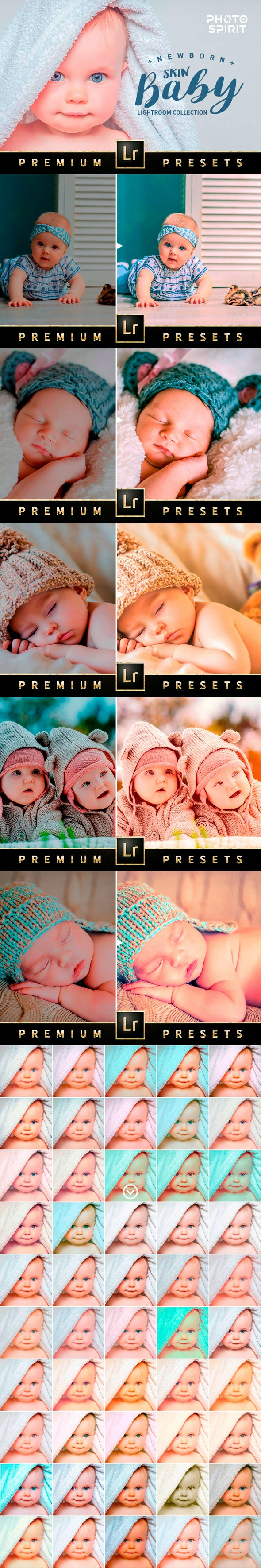Newborn Baby Lightroom Collection - Lightroom Presets Add-ons