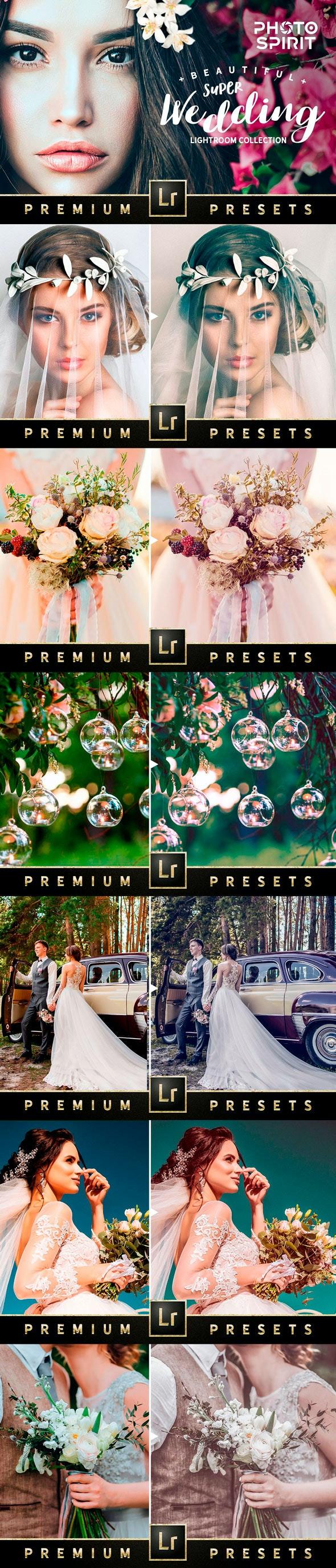 Premium Beautiful Wedding Presets - Wedding Lightroom Presets